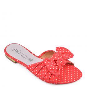 Червени дамски ежедневни чехли Kayleen в online магазин Fashionzona