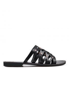 Черни дамски ежедневни чехли 0134447 в online магазин Fashionzona
