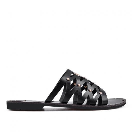 Черни дамски ежедневни чехли Aude