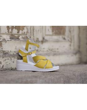 Жълти дамски ежедневни сандали 240 240yellow в online магазин Fashionzona