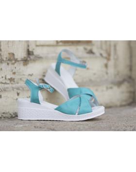 Зелени дамски ежедневни сандали 240 240green в online магазин Fashionzona