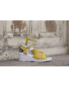 Зелени дамски ежедневни сандали 240 Michaela в online магазин Fashionzona