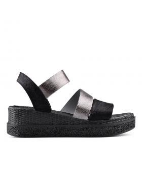 Черни дамски ежедневни сандали 0135041 в online магазин Fashionzona
