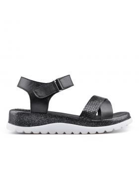 Черни дамски ежедневни сандали 0135034 в online магазин Fashionzona
