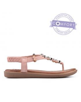 Розови дамски ежедневни сандали 0134215 в online магазин Fashionzona