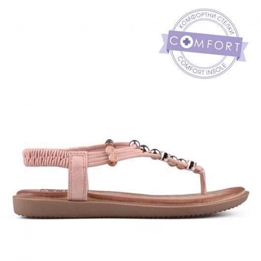 Розови дамски ежедневни сандали 0134215
