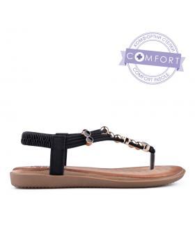Черни дамски ежедневни сандали 0134214 в online магазин Fashionzona