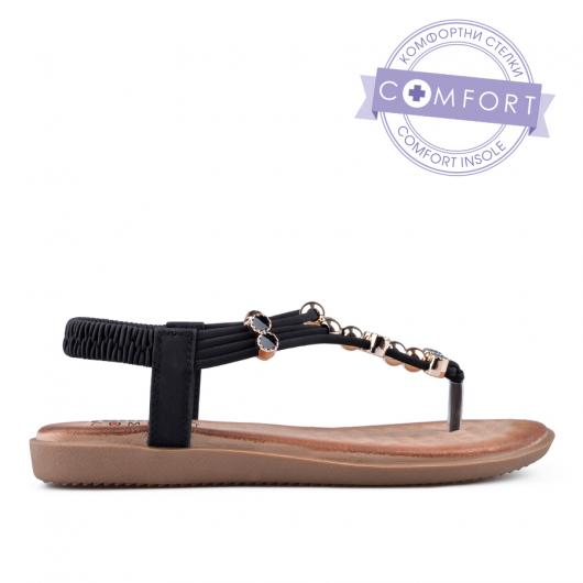 Черни дамски ежедневни сандали 0134214