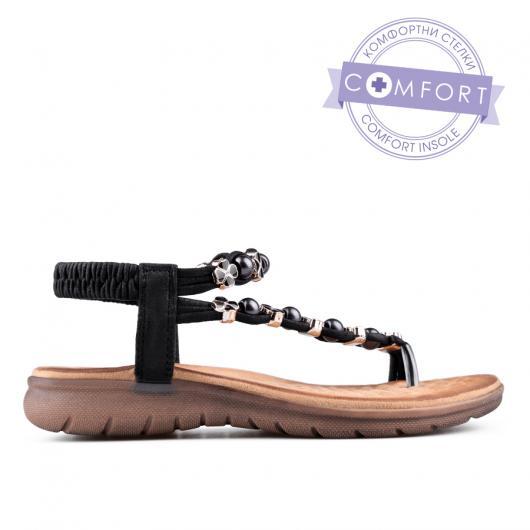Черни дамски ежедневни сандали 0134217