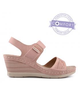 Розови дамски ежедневни сандали 0134207 в online магазин Fashionzona