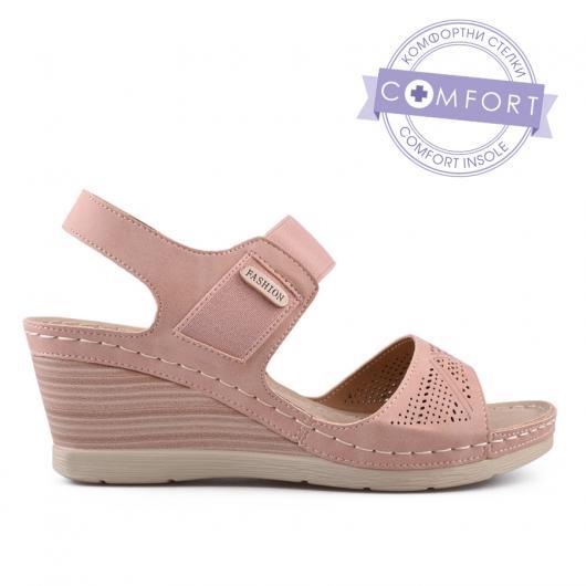 Розови дамски ежедневни сандали 0134207
