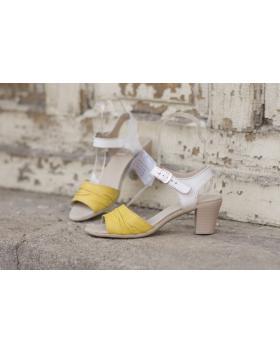 Жълти дамски ежедневни сандали 239 в online магазин Fashionzona