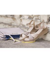 Дамски ежедневни сандали бежови 240