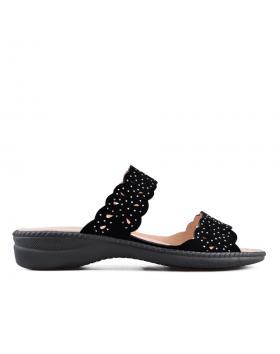 Черни дамски ежедневни чехли 0133897 в online магазин Fashionzona