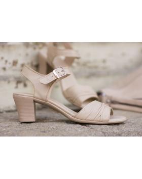 Бежови дамски ежедневни сандали 239 в online магазин Fashionzona