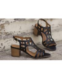 Черни дамски ежедневни сандали Sveta в online магазин Fashionzona
