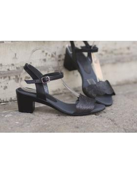 Черни дамски ежедневни сандали 1818 в online магазин Fashionzona