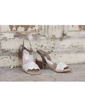 Златисти дамски ежедневни сандали 1818 в online магазин Fashionzona
