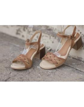 Кафяви дамски ежедневни сандали 1346/14350 в online магазин Fashionzona