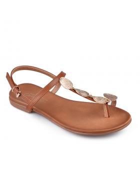 Кафяви дамски ежедневни сандали Sunnie в online магазин Fashionzona