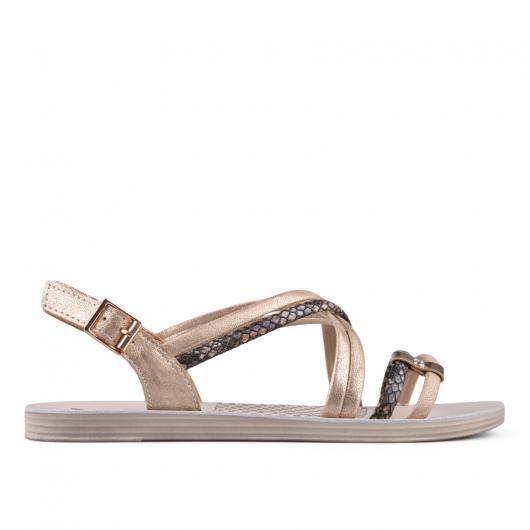 Златисти дамски ежедневни сандали Quinta