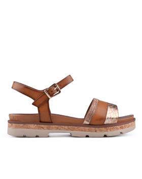Дамски ежедневни сандали кафяви 0133771 в online магазин Fashionzona