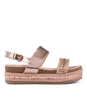 Златисти дамски ежедневни сандали Krista в online магазин Fashionzona