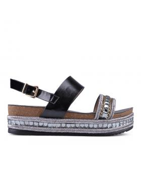 Черни дамски ежедневни сандали Courtney в online магазин Fashionzona