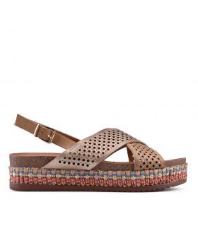 Кафяви дамски ежедневни сандали 0133716 в online магазин Fashionzona
