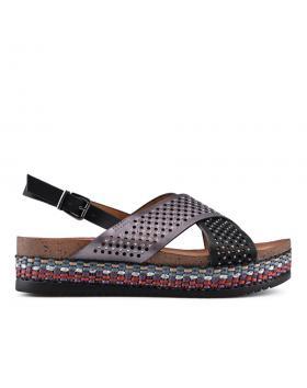 Черни дамски ежедневни сандали 0133715 в online магазин Fashionzona