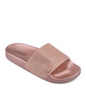Златисти дамски ежедневни чехли 0133921 в online магазин Fashionzona