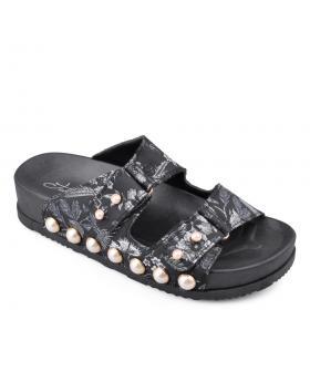 Черни дамски ежедневни чехли 0133909 в online магазин Fashionzona