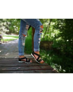 Черни дамски ежедневни сандали Sherez в online магазин Fashionzona