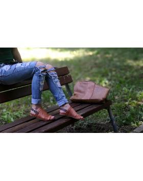 Кафяви ежедневни дамски сандали 564 в online магазин Fashionzona