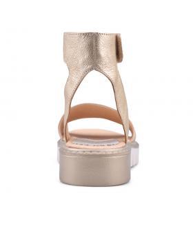 Златисти дамски ежедневни сандали Jenai в online магазин Fashionzona