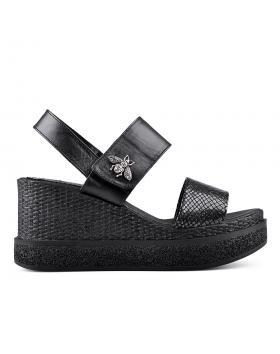 Черни дамски ежедневни сандали 0135030 в online магазин Fashionzona