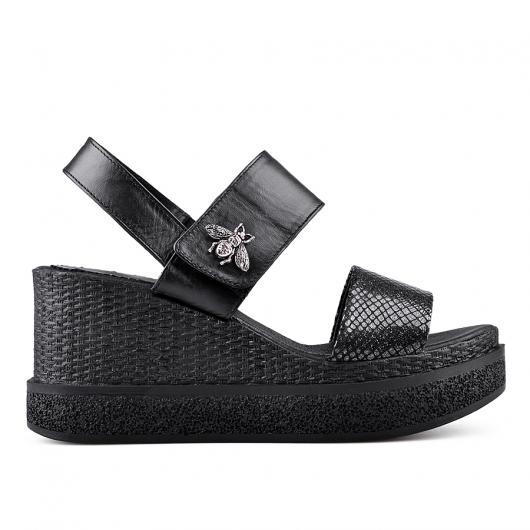 Черни дамски ежедневни сандали 0135030