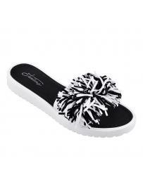 Черни дамски ежедневни чехли Rosalie в online магазин Fashionzona