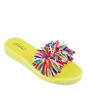 Жълти дамски ежедневни чехли 0133931 в online магазин Fashionzona