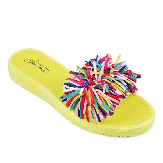 Жълти дамски ежедневни чехли Juleen
