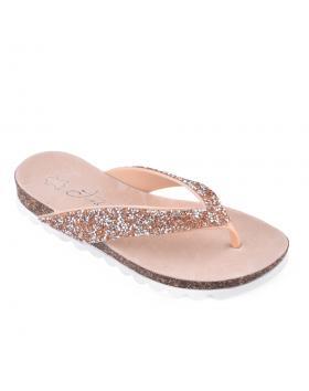 Бежови дамски ежедневни чехли 0133911 в online магазин Fashionzona