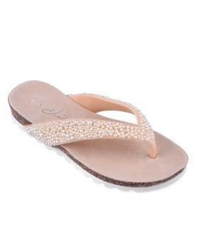 Бежови дамски ежедневни чехли 0134428 в online магазин Fashionzona