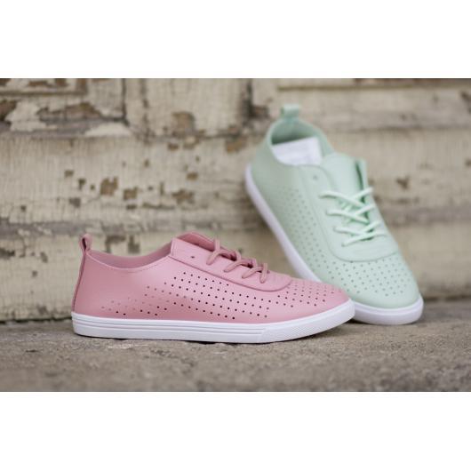 Розови дамски ежедневни обувки 130