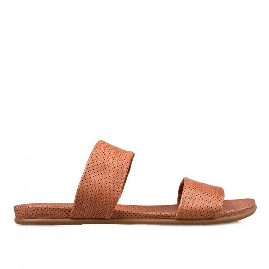 Кафяви дамски ежедневни чехли Giannina