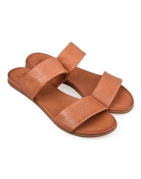 Кафяви дамски ежедневни чехли Giannina в online магазин Fashionzona