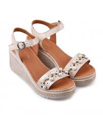 Бежови дамски ежедневни сандали Jordan в online магазин Fashionzona