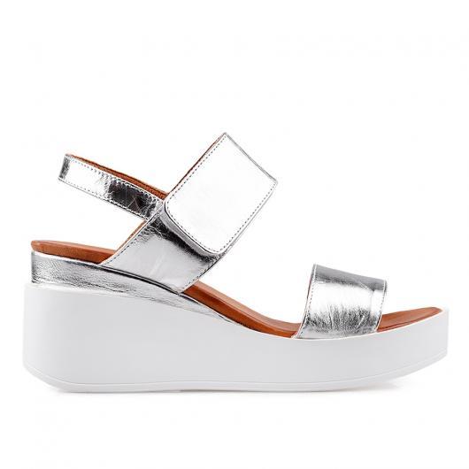 Сребристи дамски ежедневни сандали pamela03