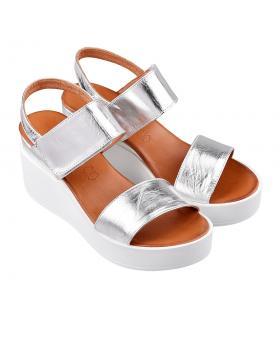 Сребристи дамски ежедневни сандали pamela03 в online магазин Fashionzona