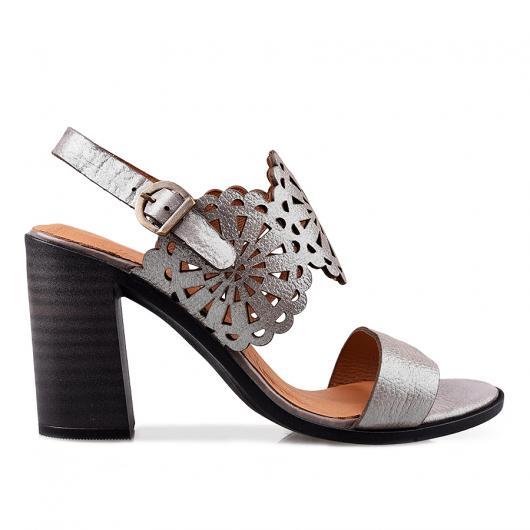 Сиви дамски ежедневни сандали Melody