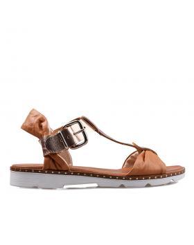 Кафяви дамски ежедневни сандали Mychelle в online магазин Fashionzona